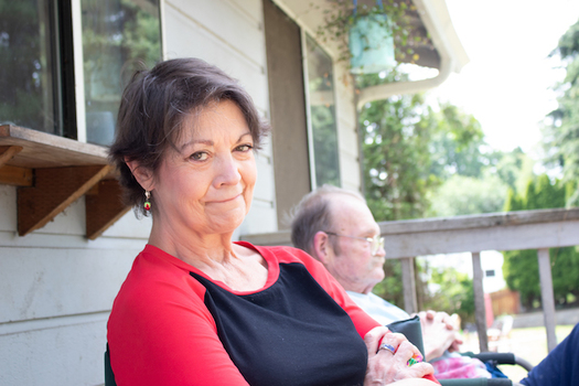 Vicki Bickford says she relies on her income as a caregiver to stay afloat.